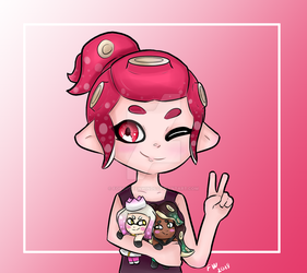 My Octoling and Plushies by ForgottenWinds