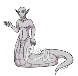 [P2U] (Male) Naga Base by Lechet-Adoptables