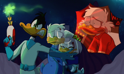 Ducktales + Duck Dodgers: SPACE AU by TairusuKU