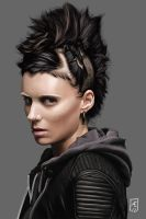 The girl with the dragon tattoo by Aedrian