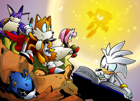 STCO Wallpaper - Super Sonic and Frenemies! by MamboCat