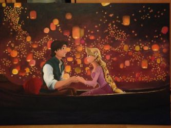 Lantern scene - Tangled by lilangie19