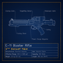 E-11 Blaster Rifle by graphicamechanica