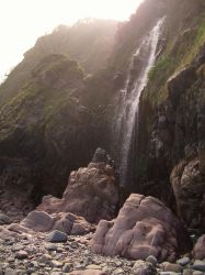 Clovelly Waterfall Shot1 by ravens-raziel