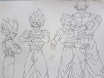 Fab 4 Z-Fighters are ready!!! by i-am-rik