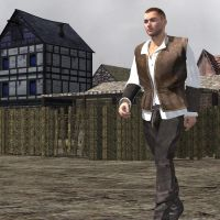 Medieval Townsman 1 by VanishingPointInc