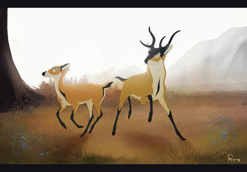Shrikes of gold by rattee