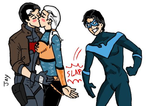 Jason Todd and Rose Wilson with Nightwing by Jasontodd1fan