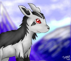 Mightyena in the Mountains by pdutogepi