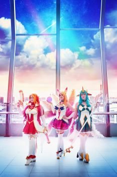 Ahri Star Guardian group by Bahamut95