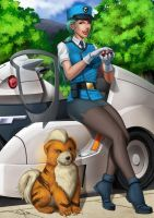 Officer Jenny and Growlithe