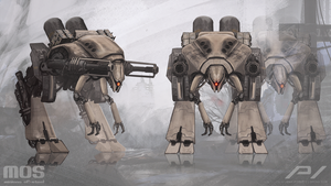 Minions of Steel - Mech unit concept by JoanPiqueLlorens