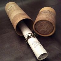Wood Log Postal Tube by AsliBayrak