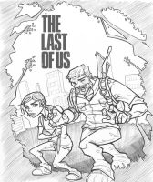 The Last of Us: Joel and Ellie stalking by davidstonecipher