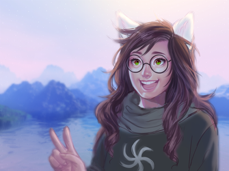 Give a peace sign, Jade! (WIP) by Susan-Kim
