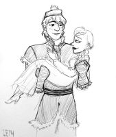 Kristoff carries Anna by LeDaLe14