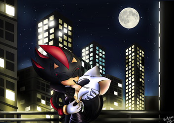 Shadow X Rouge - Moonlight Kiss by McAnime-Art