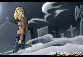 The Slayer with Background by Bluthan