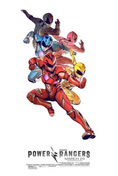 New Power Rangers (2017) Poster #2 by Artlover67