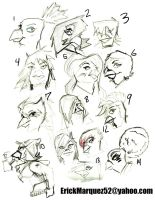 Street Bird heads by TheInsaneDingo