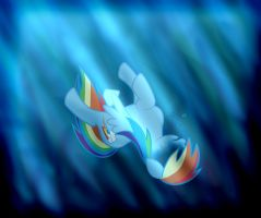 Commission: Rainbow Dash Drowning by Norphy