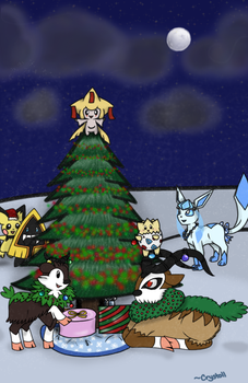 Decorating the Tree by Cryssy-Crys