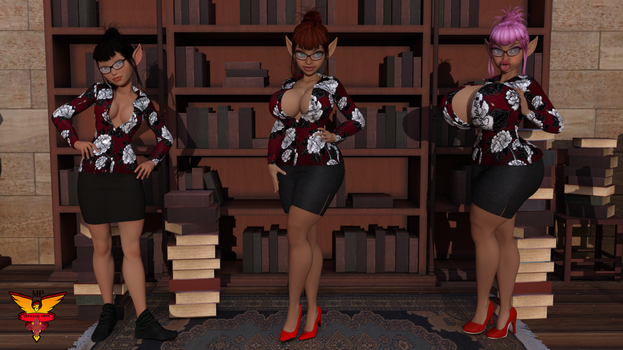 Bimboized Librarian by MPCreativeArts