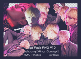 Mega Pack PNG #10 -  Taehyung BTS [Wings Concept] by YuriBlack