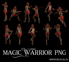 Magic Warrior by moonchild-ljilja