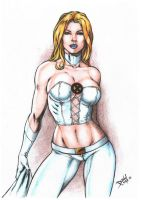 Emma Frost by DLimaArt