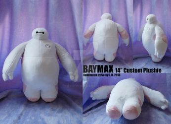 Baymax 14inch custom Plushie Details by sewcuteplushies