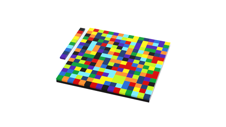 First 256 digits of Pi in colors, made in Lego by perrylegocity60134