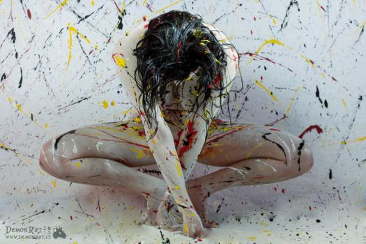 action painting by gattomannaro
