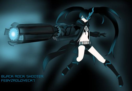 Black rock shooter w/ background by febyzaoldyeck7