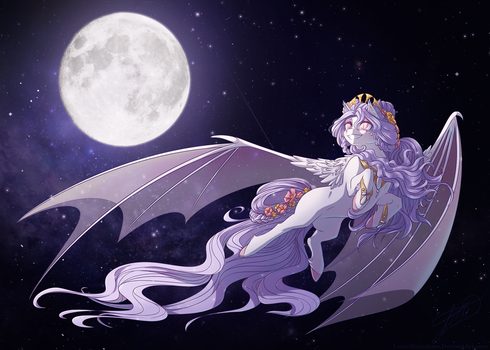 Flying in the Night Sky by LessaNamidairo
