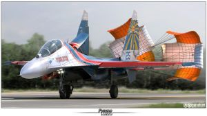 Su-27UB Russian Knights by Siregar3D