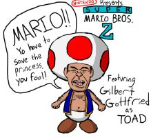 Gilbert Gottfried as Toad by fretless94