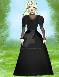 Mourning Princess Bean Disney style by Selinelle
