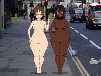 Alexa and Kendra - Naked in London by AlexFrenchESP