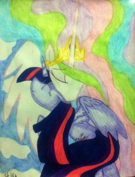 MLP FIM: Princess Celestia And Twilight Sparkle by ravenbird14
