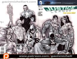 JLA Sketch Cover by GavinMichelli