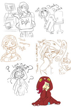 Nyeh stream doodles by CarnageComix