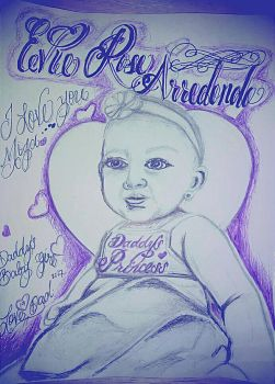 my daughter 5months by wickedlocz