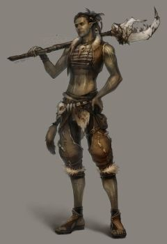 tribal warrior by len-yan
