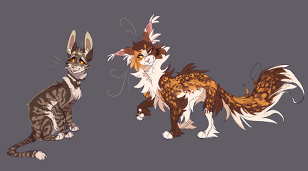 Leafpool and Spottedleaf by WeHaveCandy