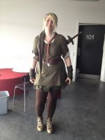 Cosplaying as Link for my last day in school-front by KayaKure