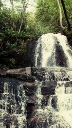 Miniature Rocky Waterfall by Rayquazasaremysterys