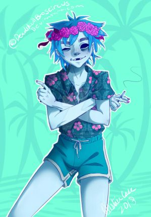 flower crown Summer 2-D by DeadskullBroscircus