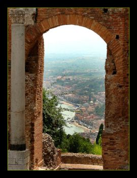 Roman Window - View Of Taormina by skarzynscy