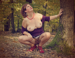 Lady in purple blouse in the autumn forest 3 by hotzone1492